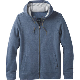 Prana M's Asbury Full Zip Hood Equinox Blue Heather